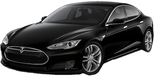 The electric and luxurious Tesla Model S allows you to be driven in style to special events or the airport. The Model S accomodates up to 3 passengers and 4 suitcases